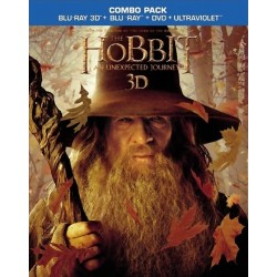 THE HOBBIT AN UNEXPECTED JOURNEY 3D + BLU-RAY + DVD