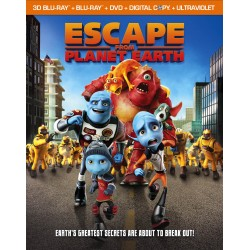 ESCAPE FROM PLANET EARTH BLU-RAY 3D + BLU-RAY + DVD