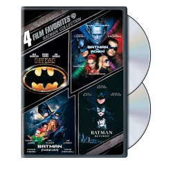 BATMAN - 4 FILM FAVORITES: BATMAN / BATMANY ROBIN / BATMAN FOREVER / BATMAN RETURNS