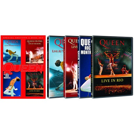 QUEEN - LIVE AT : WEMBLEY STADIUM / THE BOWL / ROCK MONTREAL / LIVE IN RIO