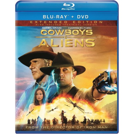 COWBOYS V/S ALIENS EXTENDED EDITION BLU-RAY + DVD