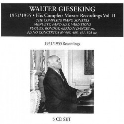 WALTER GIESEKING - COMPLETE MOZART RECORDING
