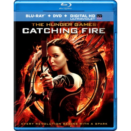 THE HUNGER GAMER CATCHING FIRE BLU-RAY + DVD