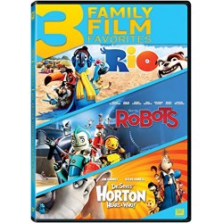 3 FAMILY FILM FAVORITES: RIO / ROBOTS / DR SEUSS' HORTON HEARTS A WHO!