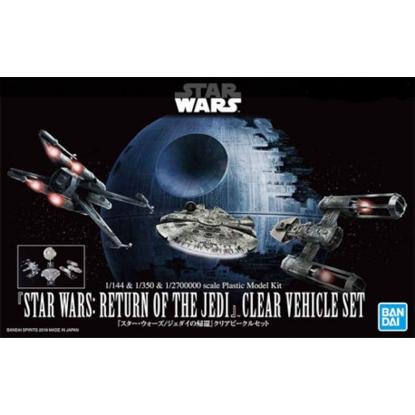 STAR WARS - RETURN OF THE JEDY - CLEAR VEHICLE SET