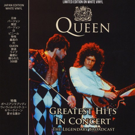 QUEEN - GREATEST HITS IN CONCERT - THE LEGENDARY BROADCAST