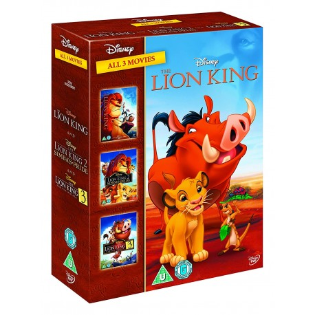 THE LION KING - 3 MOVIES