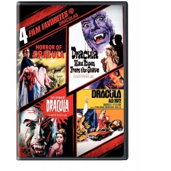 DRACULAS - 4 FILM FAVORITES: HORROR OF DRACULA / HAS RISEN FROM THE GRAVE / TASTE THE BLOOD OF DRACULA / AD 1972