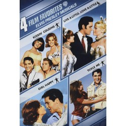 ELVIS PRESLEY MUSICALS - 4 FILM FAVORITES: KISSINS COUSINS / LIVE A LITTLE LOVE A LITTLE / GIRLS HAPPY / TICKLE ME