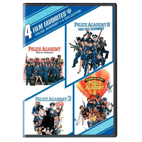 4 FILM FAVORITES- POLICE ACADEMY 1-4 COLLECTION