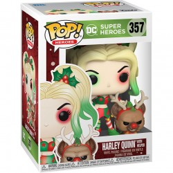 Pop! 357: DC Super Heroes Holiday - Harley Quinn with Helper