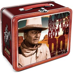 JOHN WAYNE - A MAN'S GOT TO DO - LUNCH BOX